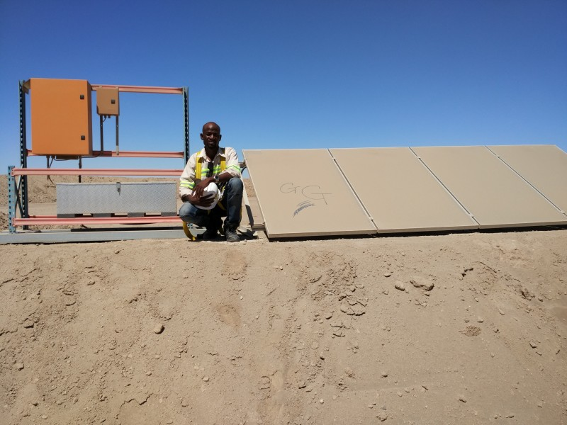 Our Project in the desert, Fullu functional for pumping water