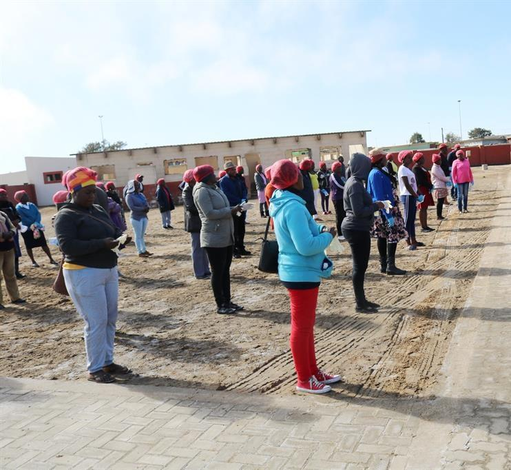 HIGH-RISK: Kuisebmond in Walvis Bay has become a hotbed of Covid-19 cases. PHOTO: Adolf Kaure