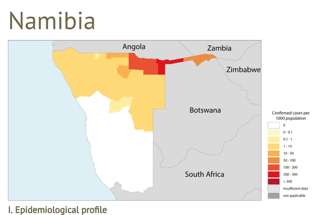 Malaria Karte.Top 10 Punto Medio Noticias Namibia Malaria Map 2019