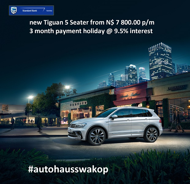 New Tiguan 5 Seater from N$ 7800 p/m