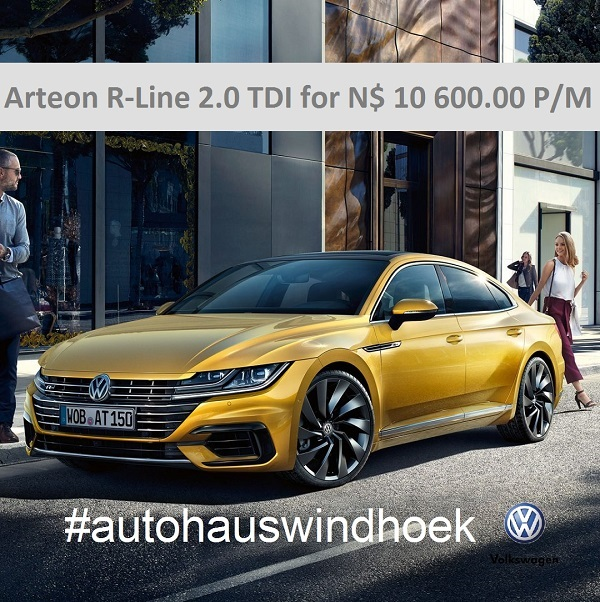 Arteon R-Line TDI for N$ 10600 P/M