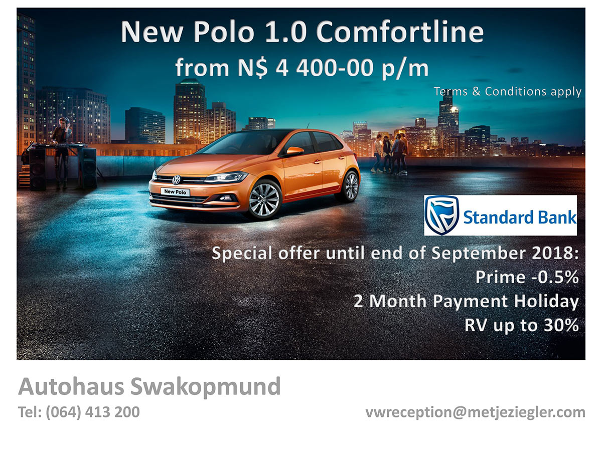 New Polo 1.0 Comfortline from N$ 4 400 p/m